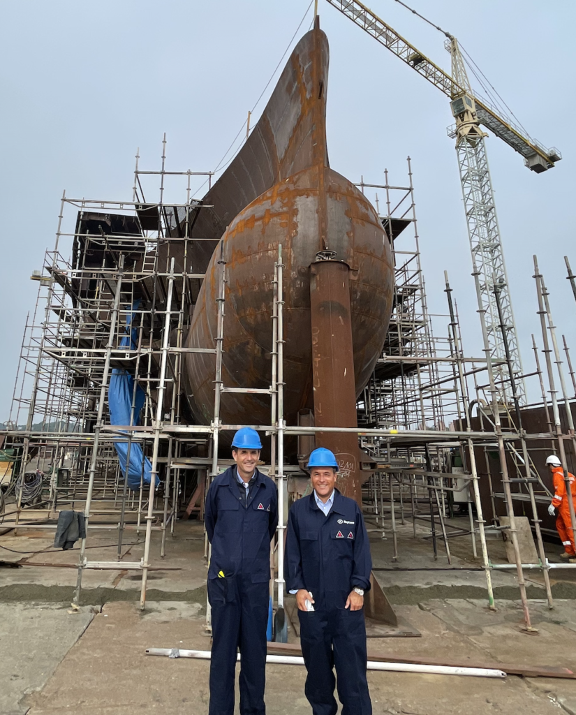 Canopée cargo vessel construction JIFMAR and NEPTUNE MARINE CEO's